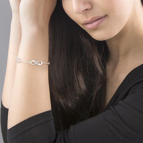 Mehrfach Infinity-Armband aus Silber - 3