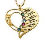 Vergoldete Geburtsstein Halskette für Mütter