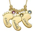 Mutterschmuck - Vergoldete Babyfuß Halskette