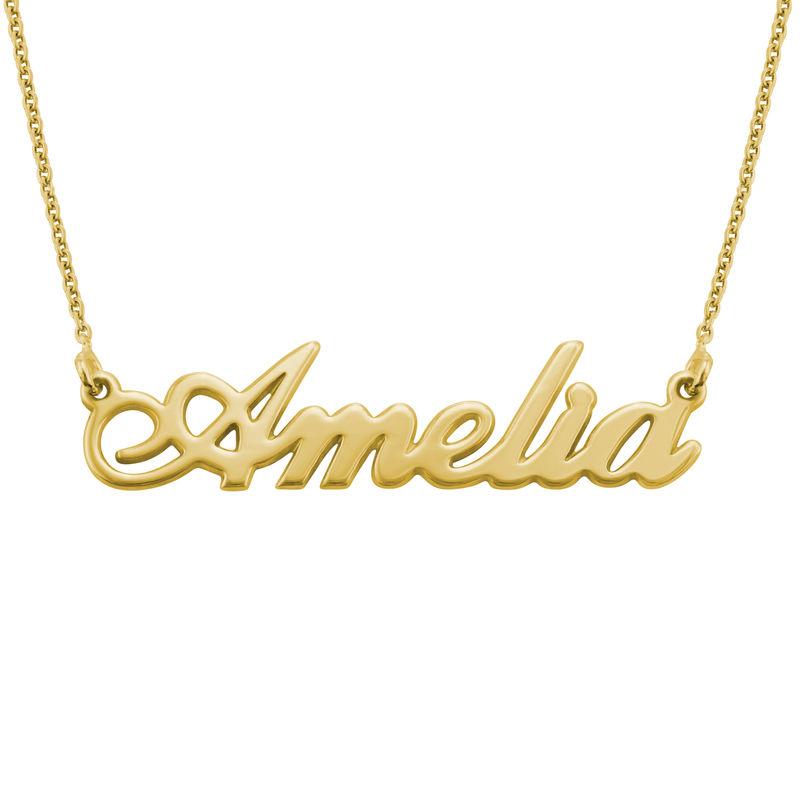 Carrie Namenskette aus 750er vergoldetem Silber - 1