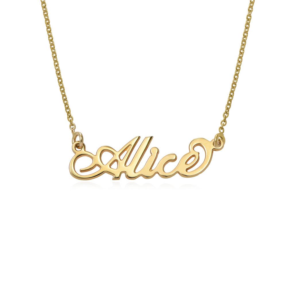 """Kleine """"Carrie"""" Namenskette aus 750er vergoldetem 925er Silber"""