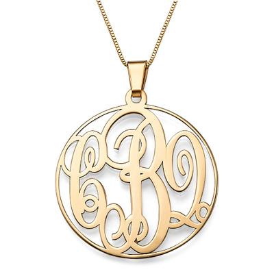 585er Gold Monogramm Halskette