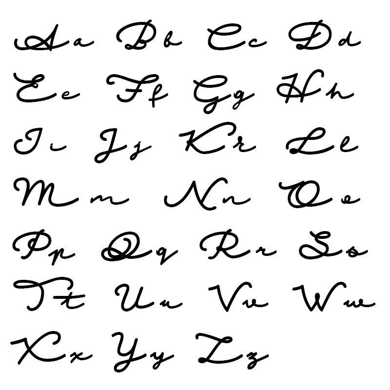 Namenskette im Signaturstil – vergoldet - 6