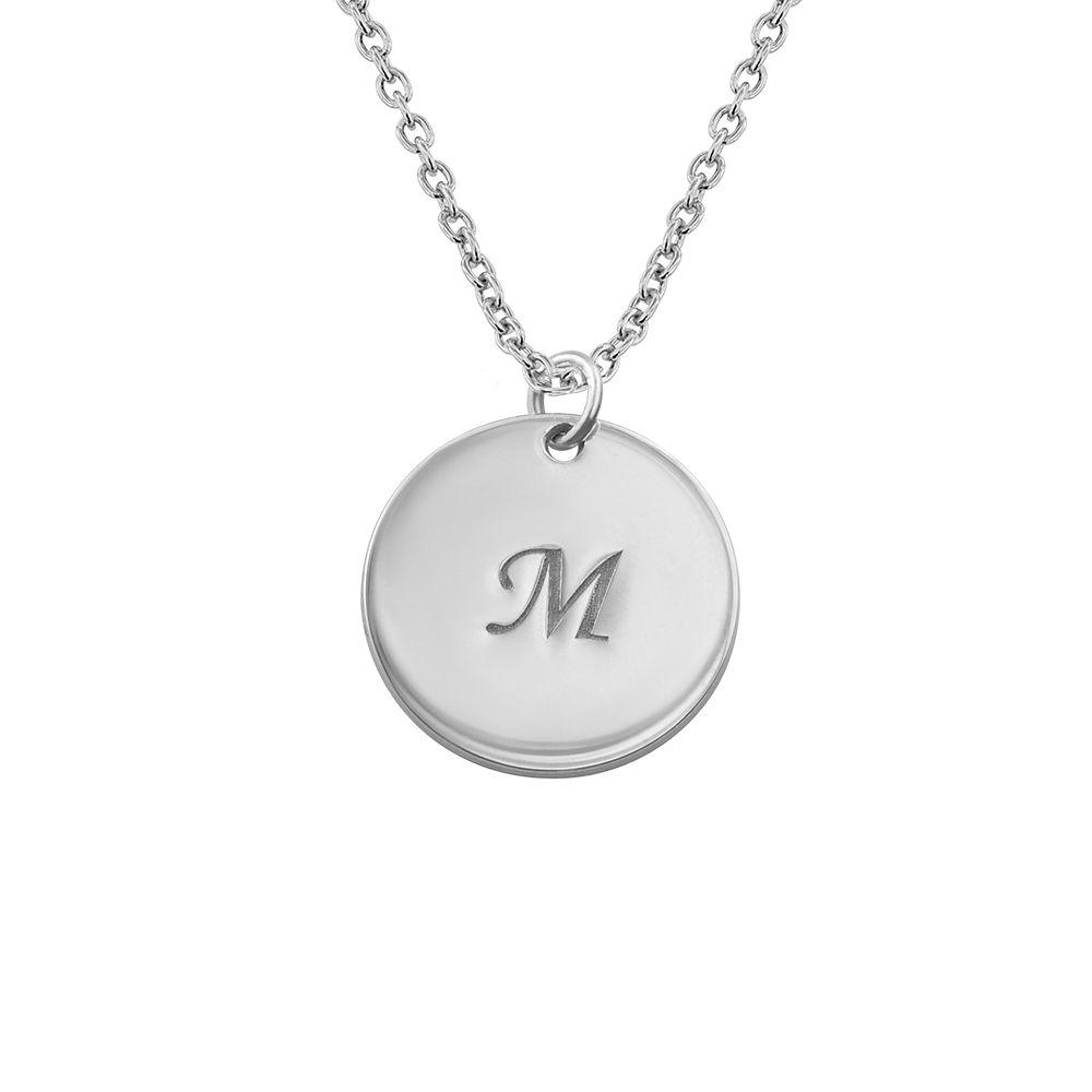 Kette mit Medallion und Initiale aus 925er Silber - 1