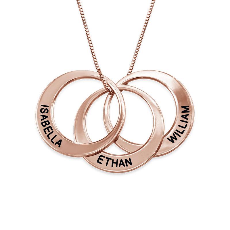 Multiple Ringkette mit Rosévergoldung