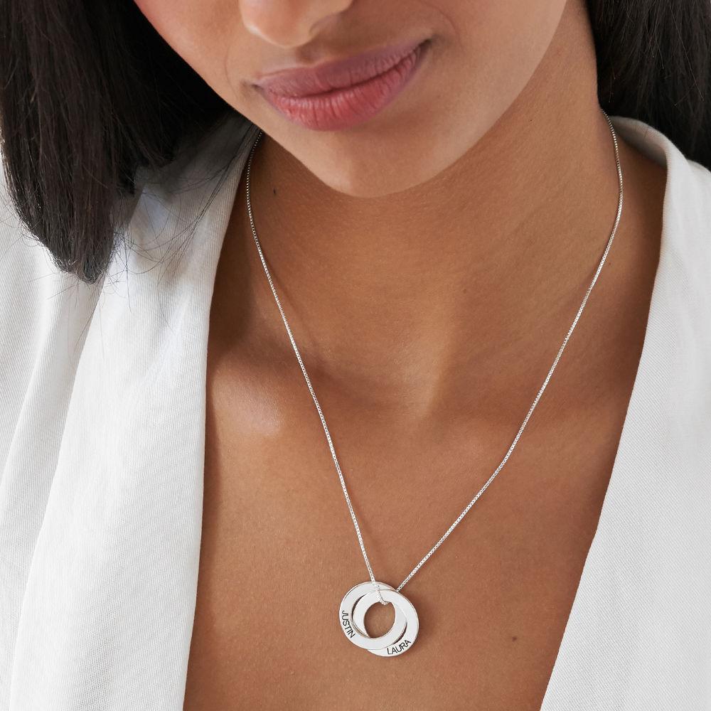 Russische Ring Halskette mit Gravur auf zwei Ringen - 3