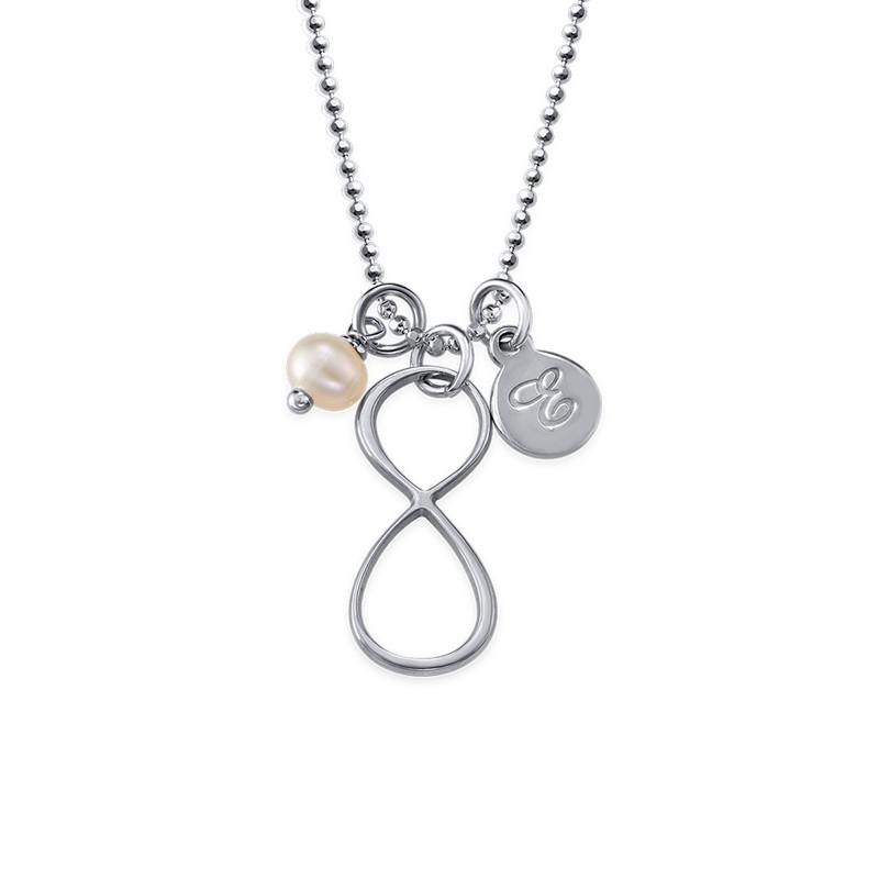 Infinity-Kette mit Initialen-Anhänger aus Silber