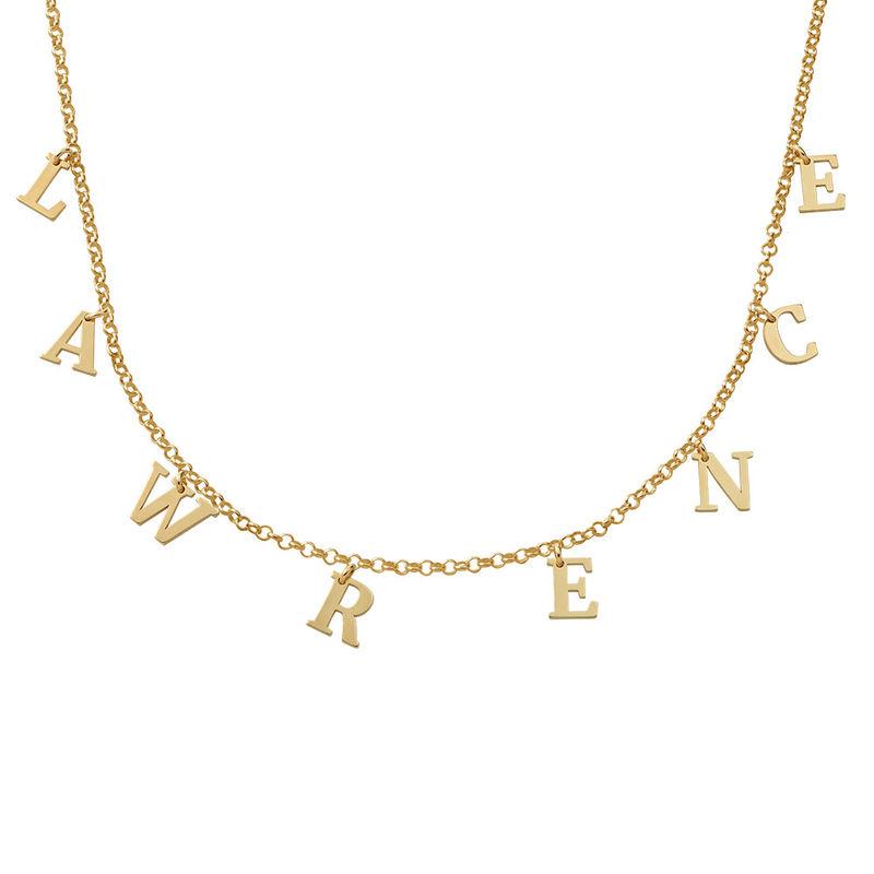 Namenshalskette in Gold-Vermeil