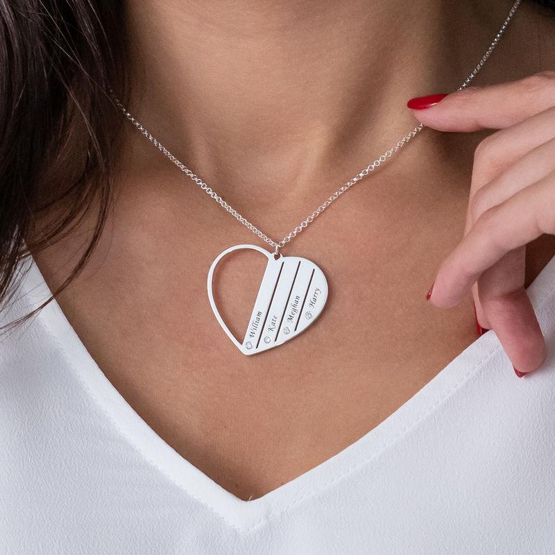Mutterkette aus Silber mit Diamanten - 3