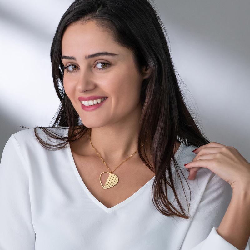 Diamant-Halskette in Gold-Vermeil für Mutter - 2