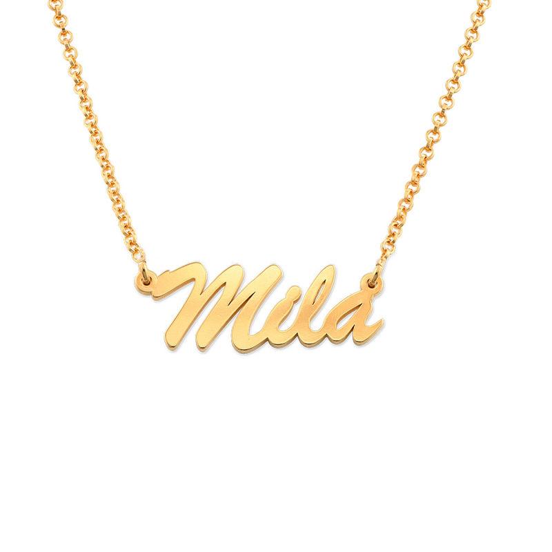 Namenskette mit Gold-Beschichtung