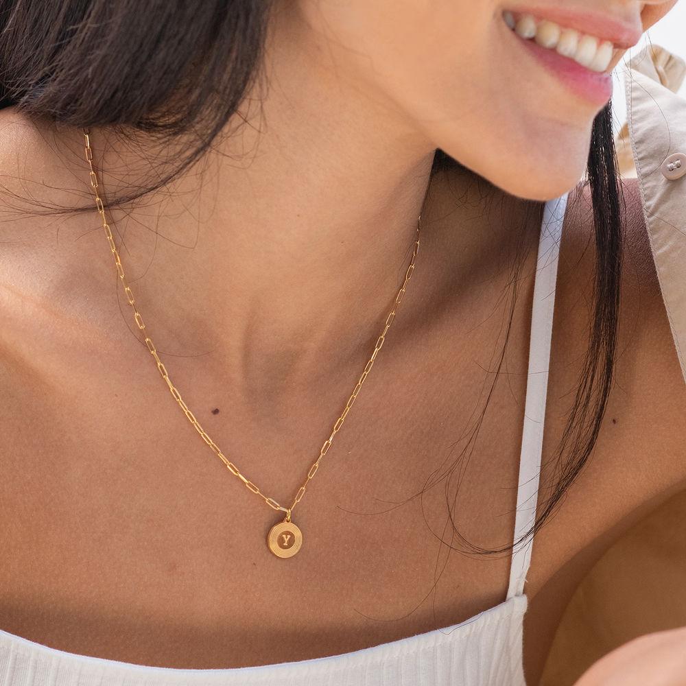 Odeion Initial-Halskette mit Vergoldung - 1