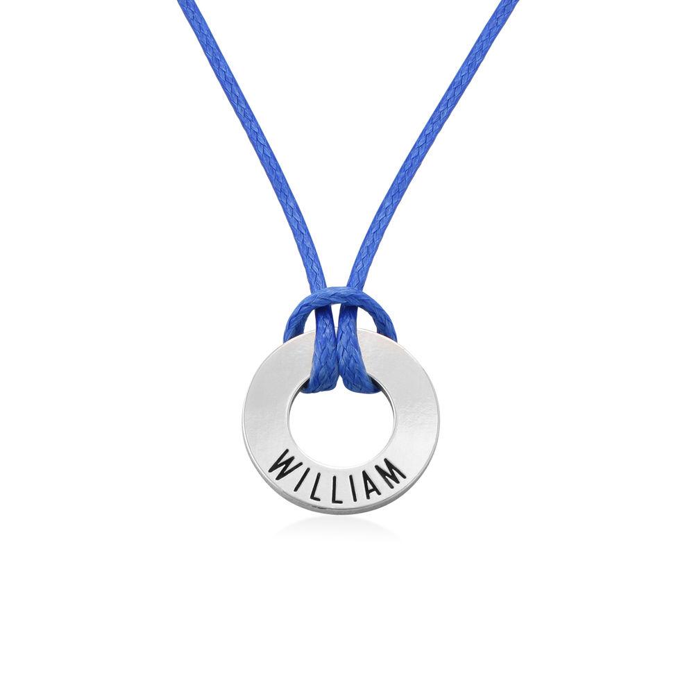 ID Wax Cord Halskette in Sterling Silber für Jungen