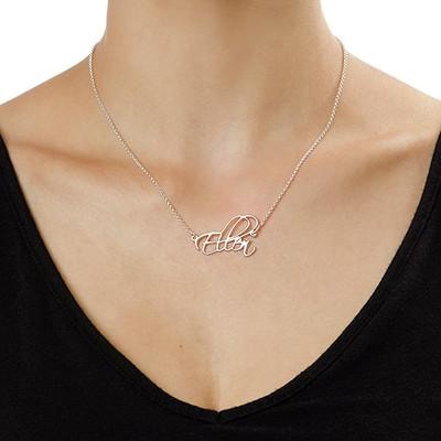925er Silber Skript Namenskette - 1
