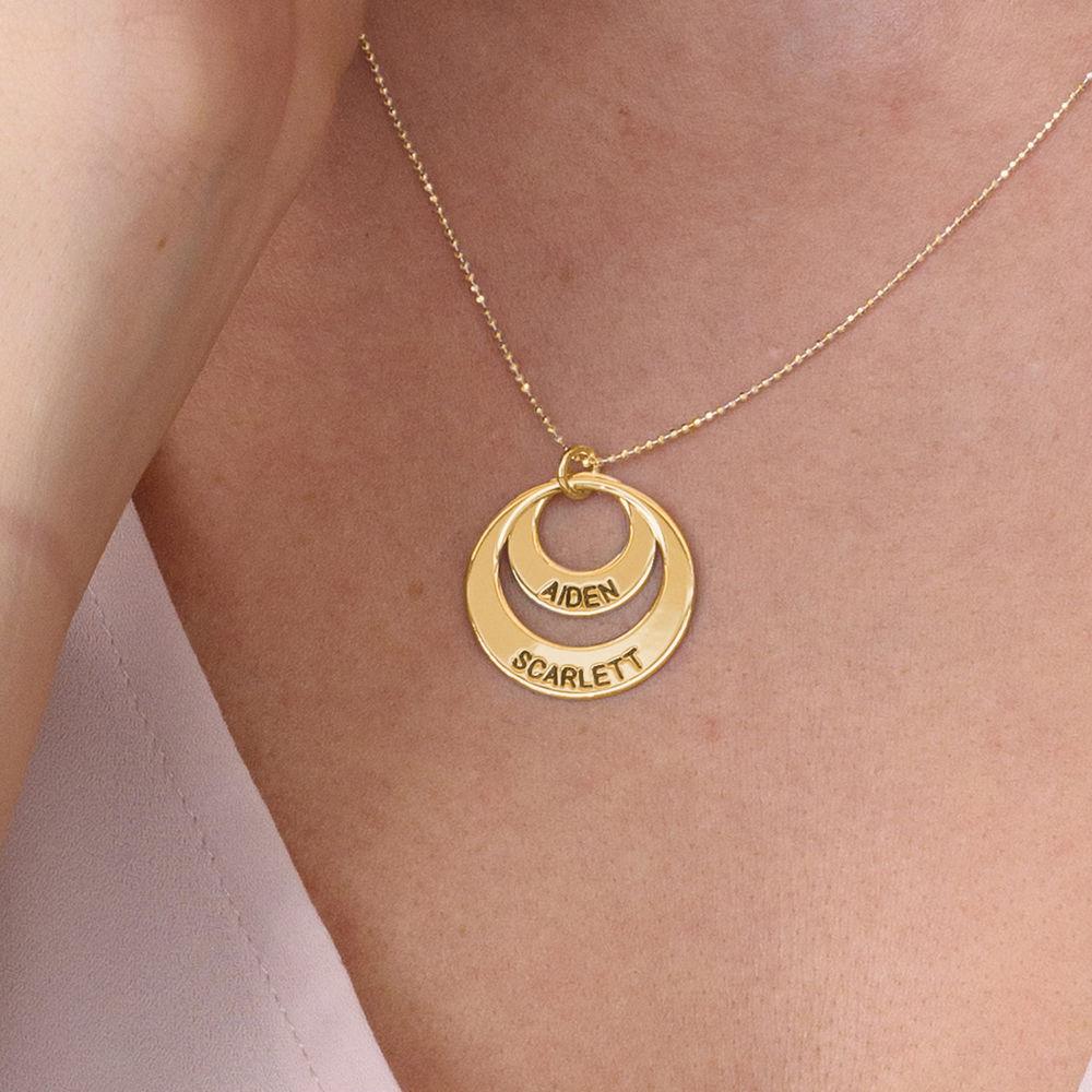 Mutterschmuck – Kette mit rundem Plättchen aus 417er-Gold - 4