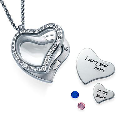 Ich trage dein Herz bei mir Charm-Medaillon - 1