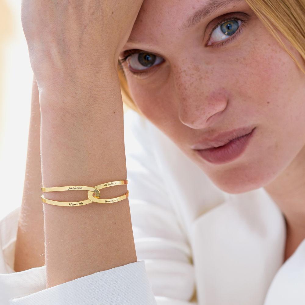 Hand in Hand - personalisierter Armreif aus 750er vergoldetem 925er Silber - 4