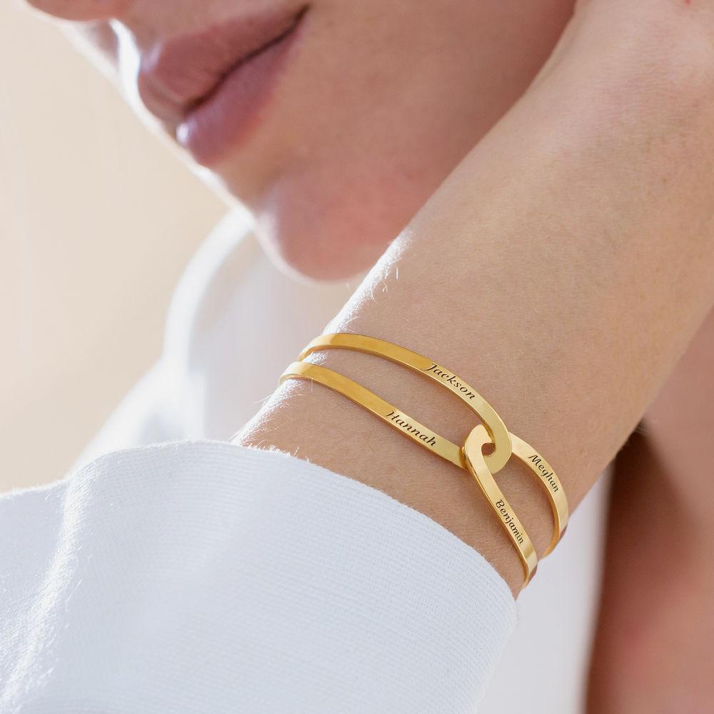 Hand in Hand - personalisierter Armreif aus 750er vergoldetem 925er Silber - 5