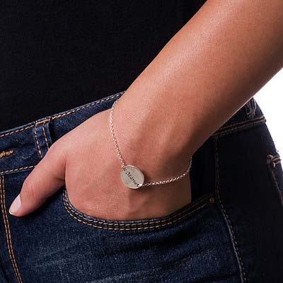 Armband / Fußkette mit Gravur aus 925er Sterling Silber - 2