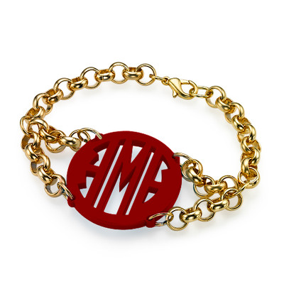 Color Armband mit Kette aus 750er vergoldetem 925er Silber - 3