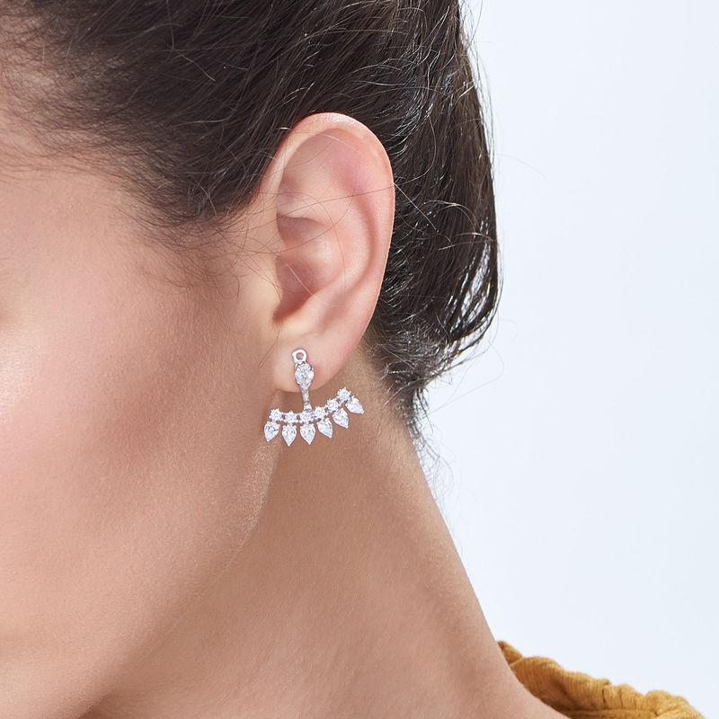 Ear-Jacket-Zirkonia-Ohrringen aus Sterlingsilber - 1