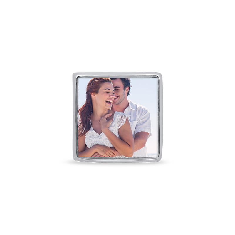 Quadratische Foto-Charm-Perle