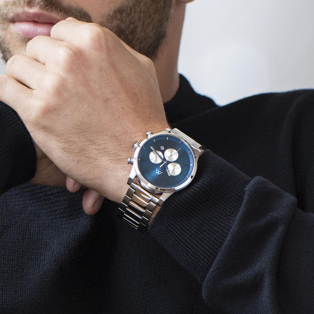 Quest Chronograph Herren Uhr - Edelstahl - 6