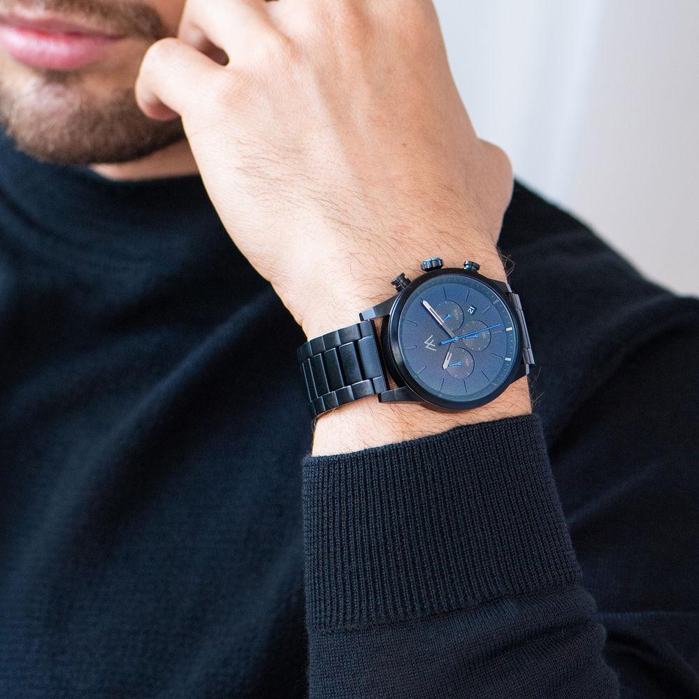 Quest Chronograph Herren Uhr - Schwarzes Edelstahl - 6