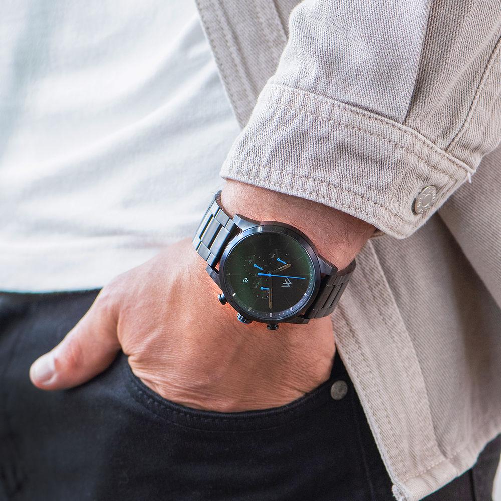 Quest Chronograph Herren Uhr - Schwarzes Edelstahl - 7