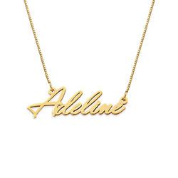 Kleine Namenskette aus 585er Gold Produktfoto