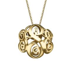Vergoldete 3D Monogramm Halskette Produktfoto