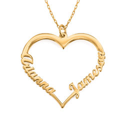 Individualisierbare Herzkette aus 417er-Gold Produktfoto