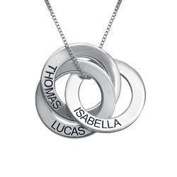 Russische Ring Halskette mit Gravur aus 940 Premium Silber Produktfoto