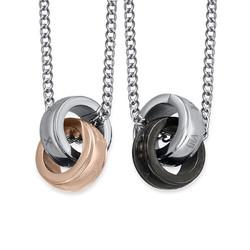 Verbundenes Ring-Ketten-Set für Pärchen Produktfoto