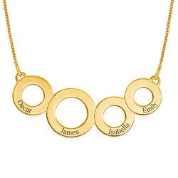Ringkette für Mama mit Gravur und Vergoldung Produktfoto