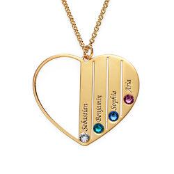 Geburtsstein-Halskette in Gold-Vermeil für Mutter Produktfoto