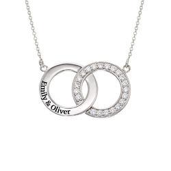 Interlocking Circle Halskette aus Sterlingsilber Produktfoto