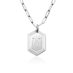 Cupola Glieder-Halskette aus Sterlingsilber Produktfoto