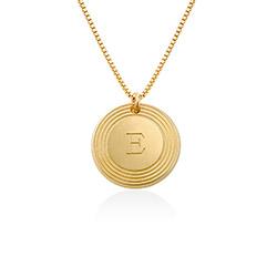 Fontana Initial-Halskette in Gold-Vermeil Produktfoto
