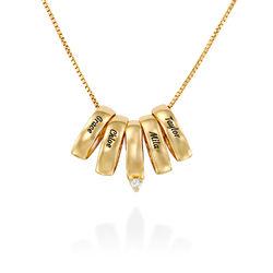 Eine ganze Menge Liebe Halskette aus 750er vergoldetes 925er Silber Produktfoto