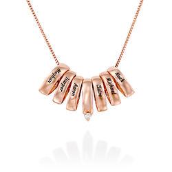 Eine ganze Menge Liebe Halskette aus Rosévergoldetes 925er Sterling Produktfoto
