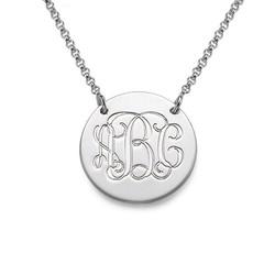 925er Silber Monogramm Medallion Produktfoto