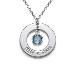 925er Silber Partnerkette mit Kristall Produktfoto
