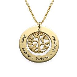 Vergoldete Familien Stammbaum Halskette Produktfoto