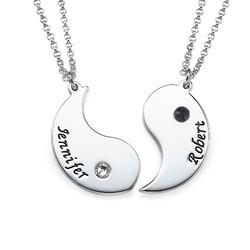 Gravierte Yin Yang Halskette für Pärchen Produktfoto