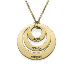 Vergoldete Halskette mit drei Ringen für Mütter Schmuck für Mütter Produktfoto