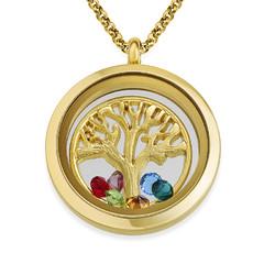 Vergoldetes Familienstammbaum-Charm Medaillon Produktfoto