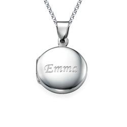 Personalisiertes Silber Medaillon Produktfoto