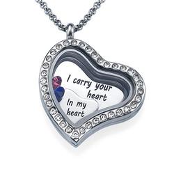 Ich trage dein Herz bei mir Charm-Medaillon Produktfoto