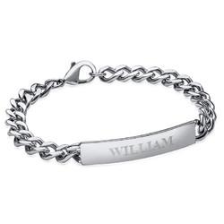 Edles Herren-Armband aus Edelstahl mit Gravur Produktfoto